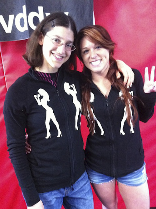 Roxy and Brittany in sponsorware (Fightchix)