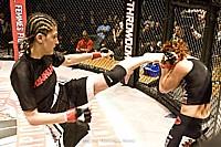Roxanne kicking Vanessa